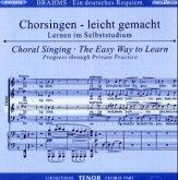 Ein Deutsches Requiem op.45, Chorstimme Tenor, 2 Audio-CDs