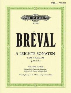 Drei leichte Sonaten für Violoncello und Klavier op.40, 1-3