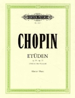 Etüden op.10, op.25 und 3 Etüden ohne Opuszahl, Klavier