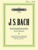Sonaten BWV 1033 C-Dur, BWV 1034 e-Moll, 1035 E-Dur, Flöte und Klavier / Sechs Sonaten für Flöte und Klavier Bd.2