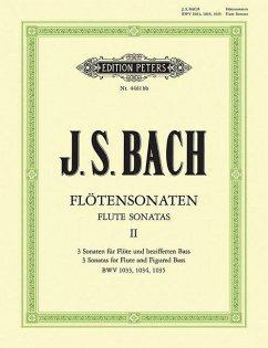 Sonaten BWV 1033 C-Dur, BWV 1034 e-Moll, 1035 E-Dur, Flöte und Klavier / Sechs Sonaten für Flöte und Klavier Bd.2 - Bach, Johann Sebastian