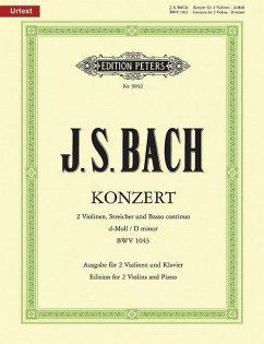 Doppelkonzert d-Moll BWV 1043, 2 Violinen und Klavier