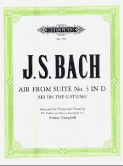 Air, aus der Suite Nr.3 D-Dur, Bearbeitung Violine und Klavier, Klavierpartitur u. Violinstimme