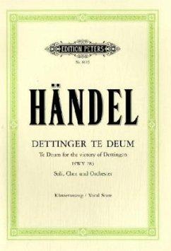 Dettinger Te Deum, Klavierauszug