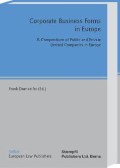 Corporate Business Forms in Europe - Dornseifer, Frank (ed.)