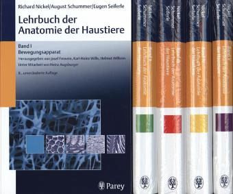 Lehrbuch der Anatomie der Haustiere, 5 Bde. - Nickel, Richard; Schummer, August; Seiferle, Eugen