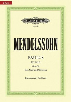 Paulus op.36, Klavierauszug - Mendelssohn Bartholdy, Felix