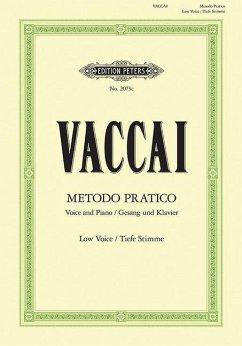 Metodo pratico di Canto italiano, Gesang und Klavier, tiefe Stimme