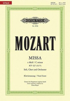 Messe c-Moll KV 427 (Beyer), Klavierauszug - Mozart, Wolfgang Amadeus