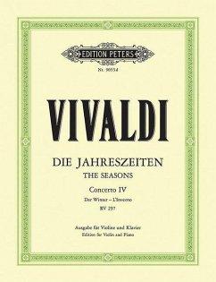 Der Winter, F RV 297 / Konzerte für Violine und Streichorchester, Die Jahreszeiten, op.8, Klavierauszug Nr.4 - Vivaldi, Antonio