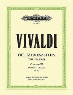 Der Herbst, F RV 293 / Konzerte für Violine und Streichorchester, Die Jahreszeiten, op.8, Klavierauszug Nr.3 - Vivaldi, Antonio