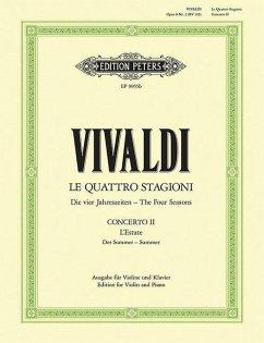 Der Sommer, g RV 315 / Konzerte für Violine und Streichorchester, Die Jahreszeiten, op.8, Klavierauszug Nr.2 - Vivaldi, Antonio