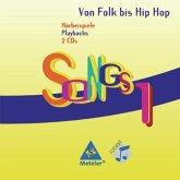 Hörbeispiele Playbacks, 2 Audio-CDs / Songs, Von Folk bis Hip Hop Bd.1