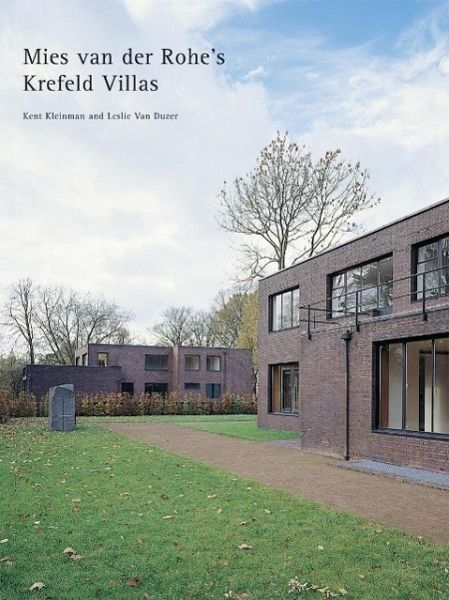 mies van der rohe the krefeld villas von kent kleinman leslie van duzer englisches buch. Black Bedroom Furniture Sets. Home Design Ideas