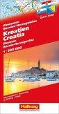 Kroatien-Slowenien-Bosnien-Herzegowina Strassenkarte 1:500 000; Croatia, Slovenia, Bosnia-Herzegovina; Croatie, Slovénie