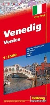 Hallwag CityMap Venedig Stadtplan 1:5.500; Venice; Venezia, Venise