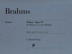 Walzer op.39, Klavier zu vier Händen
