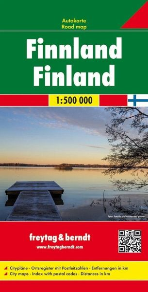 Freytag & Berndt Autokarte Finnland; Suomi. Finland; Finlande. Finlandia
