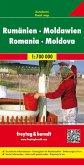 Freytag & Berndt Autokarte Rumänien, Moldawien; Romania, Moldova / Roumanie, Moldavie