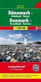 Freytag & Berndt Autokarte Dänemark, Grönland, Färöer; Danmark, Groenland, Faeroeerne; Denemarken, Groenland, Faeröer; D