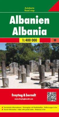 Freytag & Berndt Autokarte Albanien 1:400.000; ...