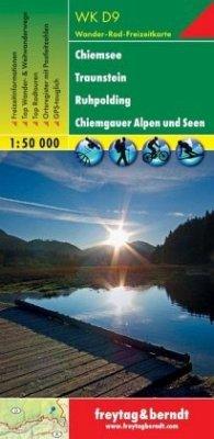 Freytag & Berndt Wander-, Rad- und Freizeitkarte Chiemsee, Traunstein, Ruhpolding, Chiemgauer Alpen und Seen