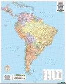 Freytag & Berndt Poster Südamerika, physisch-politisch, mit Metallstäben