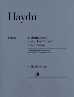 Violinkonzert G-Dur Hob. VIIa:4, Klavierauszug