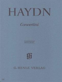 Concertini für Klavier (Cembalo) mit zwei Violinen und Violoncello, Partitur - Haydn, Joseph