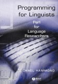 Programming for Linquists Perl P