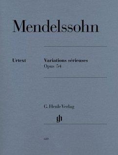 Variations serieuses op.54, Klavier