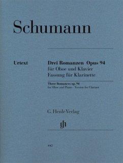 Romanzen für Oboe (oder Violine oder Klarinette) und Klavier op.94, Fassung für Klarinette