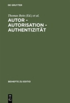Autor - Autorisation - Authentizität