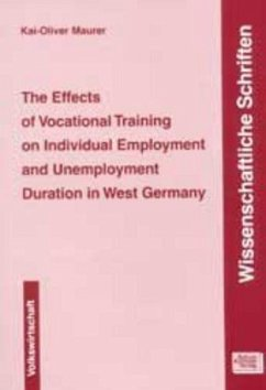 The Effects of Vocational Training on Individual Employment and Unemployment Duration in West Germany - Maurer, Kai O