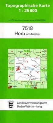 Topographische Karte Baden-Württemberg Horb am ...