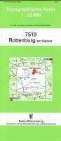 Topographische Karte Baden-Württemberg Rottenbu...