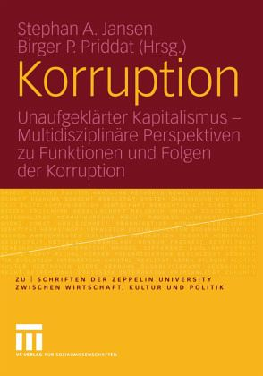 Korruption - Jansen, Stephan A. / Priddat, Birger (Hgg.)