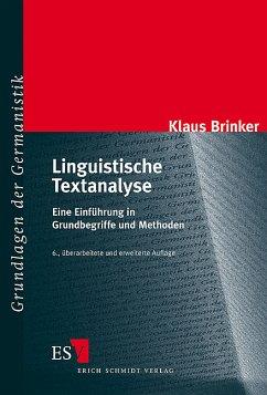 Linguistische Textanalyse - Brinker, Klaus