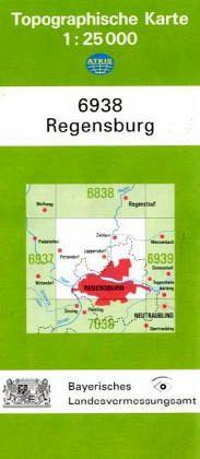topographische karte bayern regensburg. Black Bedroom Furniture Sets. Home Design Ideas
