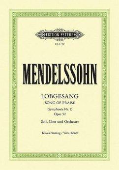 Lobgesang (Symphonie Nr.2 ) op.52, Klavierauszug