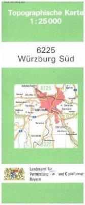 Landesamt Für Digitalisierung, Vermessung Bayern Topographische Karte Bayern Würzburg Süd