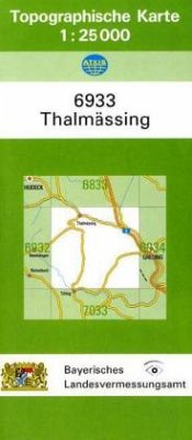 Landesamt Für Digitalisierung, Vermessung Bayern Topographische Karte Bayern Thalmässing