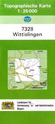 Topographische Karte Bayern.Topographische Karte Bayern Wittislingen