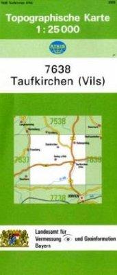 Topographische Karte Bayern Taufkirchen (Vils)