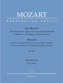 Der Messias KV 572 (Mozart/Händel), Klavierauszug - Mozart, Wolfgang Amadeus; Händel, Georg Friedrich