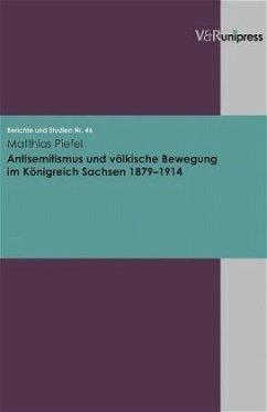 Antisemitismus und völkische Bewegung im Königreich Sachsen 1879-1914 - Piefel, Matthias