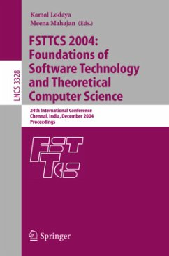 FSTTCS 2004: Foundations of Software Technology and Theoretical Computer Science - Lodaya, Kamal / Mahajan, Meena (eds.)