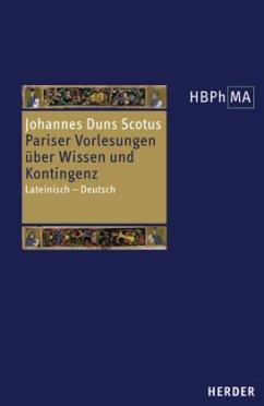 Pariser Vorlesungen über Wissen und Kontingenz - Johannes Duns Scotus
