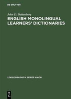 English monolingual learners' dictionaries