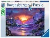Ravensburger 16359 - Sonnenaufgang im Paradies, 1500 Teile, Puzzle